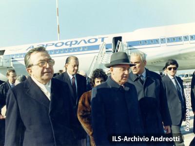 29 novembre 1989. Visita a Roma del premier sovietico Gorbaciov.