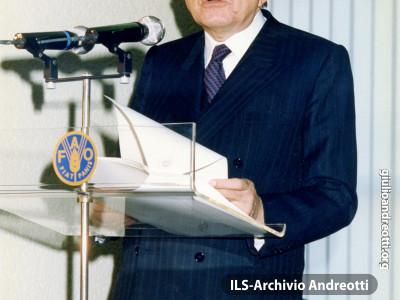 Discorso di Andreotti alla FAO nel 1989.