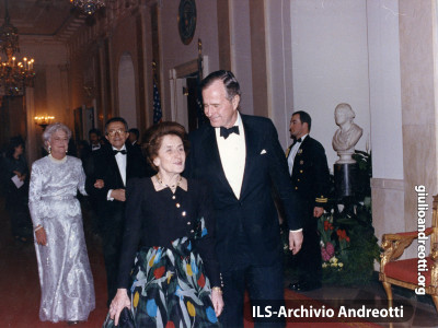 7 Marzo 1990. Visita ufficiale di Andreotti a Washington.