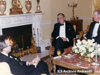 Marzo 1990. Visita ufficiale di Andreotti a Washington.