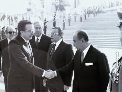 4 novembre 1977. Cerimonia all'Altare della Patria.