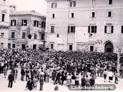 4 maggio 1952 Inaugurazione dell'acquedotto a Tacchiena, frazione di Alatri.