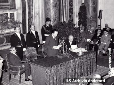 10 dicembre 1959. Relazione di Andreotti all'Istituto Studi Romani sul Tema dell'Anno Olimpico