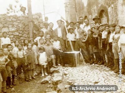 L'arrivo dell'acqua a Segni, 20 luglio 1932
