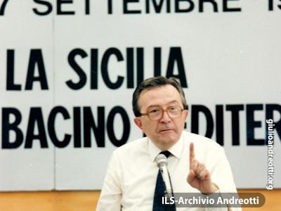 Festa dell'Amicizia della DC. Palermo, settembre 1987. Intervento di Andreotti.