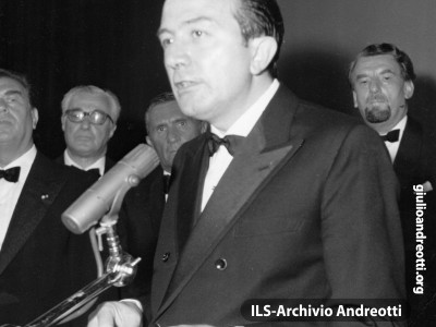 30 settembre 1968. L'intervento di Andreotti alla conclusione delle Giornate del Cinema di Sorrento.