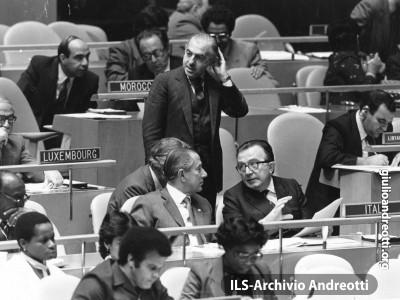 2 ottobre 1984. Andreotti sui banchi dell'Assemblea Generale delle Nazioni Unite.