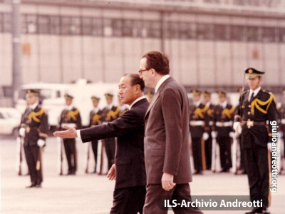 Visita di Andreotti in Giappone. 23 aprile 1973