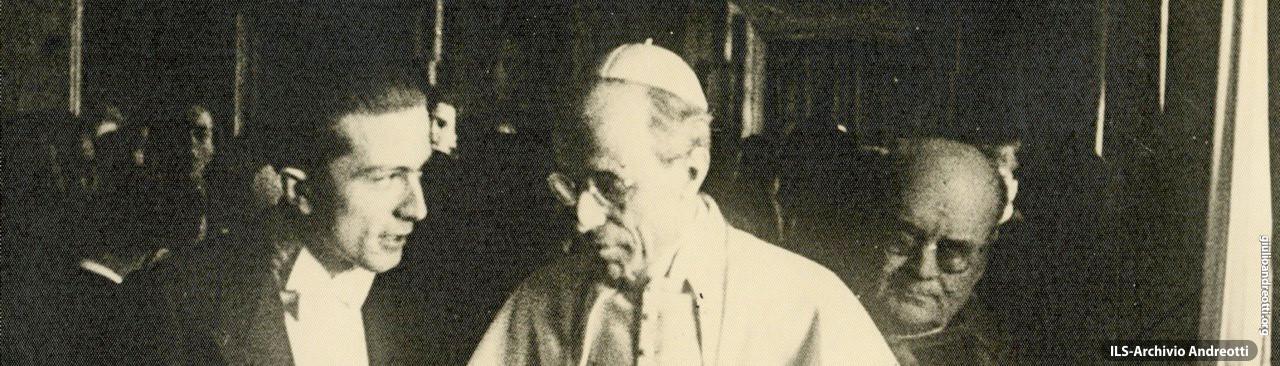 Con Pio XII da Presidente della Fuci. Era il 1942