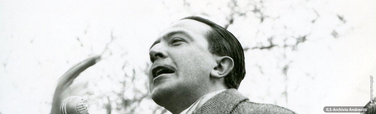 Discorso di Giulio Andreotti nell'aprile 1957.